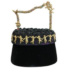 Helene Angeli Angels Handle Bag  | From a collection of rare vintage top handle bags at https://www.1stdibs.com/fashion/handbags-purses-bags/top-handle-bags/