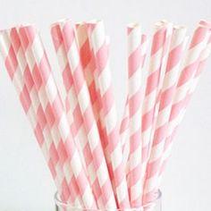 retro papieren rietjes Light Pink http://www.langzalzeleven.com/a-34102342/feestartikelen-roze/retro-papieren-rietjes-light-pink/