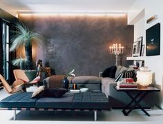 Modern Living Room in Milan, Italy  What a cool space