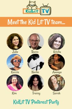 Who Is KidLit TV? Julie Gribble is the founder with a crew that works behind the scenes at KidLit TV.  A few you may see tonight at the party!