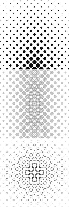 Black and white circle/dot pattern background collection - 99 vector patterns (EPS + JPG)