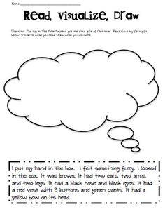 Visualization...  I like the idea of the passage at the bottom, read, visualize, draw.