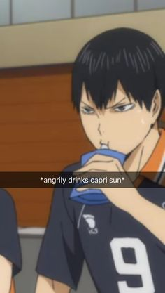 haikyuu season 3 | OK KAGEYAMA IS THE ONLY ONE WHO CAN DRINK JUICE ANGRILY!!!!