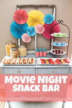 Movie night snack bar