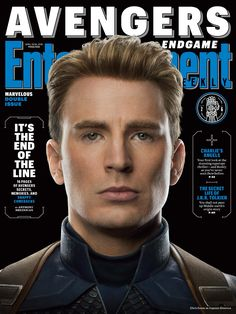 Steve Rogers played by Chris Evans on Entertainment Weekly's new magazine covers in preparation for Avengers Endgame! Entertainment Weekly, Marvel Entertainment, The Avengers, The Original Avengers, Steve Rogers, Mark Ruffalo, Jeremy Renner, Chris Hemsworth, Tony Stark