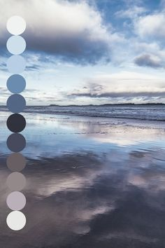 photography sky landscape water clouds nature beach reflection ocean sea scenery pastel palette pale artists Source by scarfbuying Colour Pallette, Colour Schemes, Blue Palette, Nature Rose, Typographie Inspiration, Colour Board, Color Swatches, Color Theory, Color Inspiration