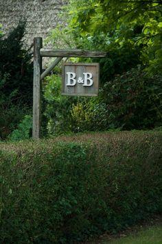 B & B sign