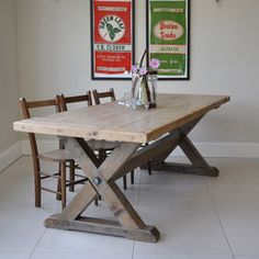 Reclaimed Timber Country Dining Table