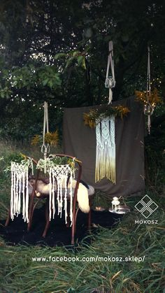 Macrame wedding deco
