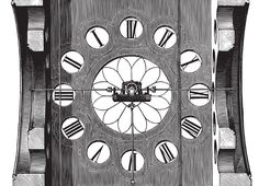 Vintage Industrial Steampunk Clock Drawing – With a Free *Vector* Download! @ Vintage Fangirl