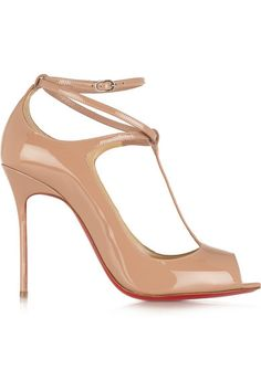 Christian Louboutin | Talitha 100 patent-leather pumps | NET-A-PORTER.COM