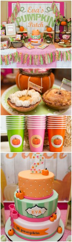 Girly Pumpkin Party Ideas - Little Pumpkin                              …