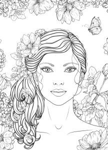 Blank Coloring Pages, Coloring Book Art, Printable Adult Coloring Pages, Fairy Coloring, 4 Tattoo, Arte Sketchbook, Colorful Drawings, Face Art, Illustrations