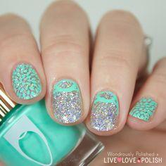 Wondrously Polished: Live Love Polish - Floss Gloss Swatches, Review & Nail Art ... stamping nail art
