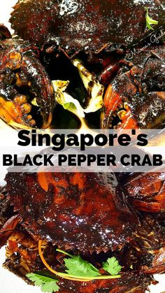 Black Pepper Crab is one of the second most popular crab recipe served in Singapore aside from the famous Chilli crabs. Pepper Crab Recipe, Mud Crab Recipe, Chilli Crab Recipe, Shellfish Recipes, Crab Recipes, Beer Recipes, Asian Recipes, Korean Crab Recipe, Singapore Chili Crab Recipe