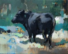 Plein Air Cattle / 8 x 10 / Oil on Canvas