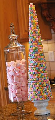 Candy conversation heart tree