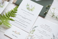 las, paproć, greenery, watercolors invitations, fern, zaproszenia ślibne, papeteria, miodunka, akwarelowe zaproszenia Wedding Stationery, Wedding Invitations, Wedding Invitation