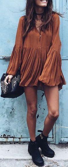 #summer #outfits / boho dress + boots