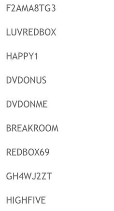 Thanks to thenilaughed.com for the redbox promo codes !! Free redbox is grrrrrreat!