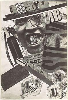 Raoul Hausmann: ABCD, 1920s.                                             Raoul Hausmann