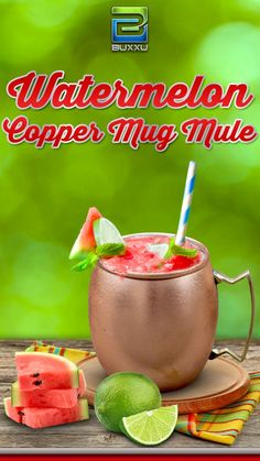 Refreshing Recipe By Buxxu- Buxxu offers a hip and interesting spin on the Moscow Mule and the copper mug it rode in on.  $39.99 only on amazon.com http://astore.amazon.com/pinad0c-20