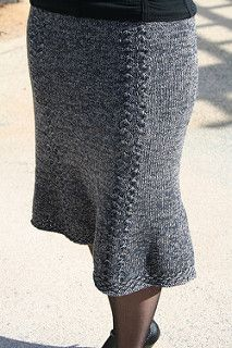 This skirt is both sexy and comfortable to wear. Knit in the round from the waistband down, it is quick to knit with minimal finishing. The decorative star patterns separating the panels are extrapolated from the star stitch border, and sneakily hide the increases for a smooth line. Choose a yarn that has both body and stretch so that it will skim your curves without clinging or sagging. The slight A-line with flared hem will look good on a wide variety of figures. This pattern was…