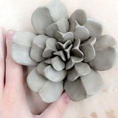 Making succulents!!  #artist #artmajor #artclass #ceramics #succulent #ceramicsucculent #clay #plant #handbuilding