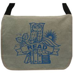 Owl With Books Messenger, $39, now featured on Fab.....OH Man Love this messenger Bag...Have got to have it!