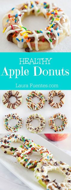 Looking for a healthy and fun snack for kids? These apple donuts are just what you are looking for. They are a healthy treat that look just like donuts.
