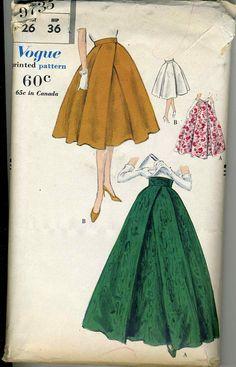 Vintage 50s Vogue 9735 Misses UNCUT Hostess gonna e di RomasMaison