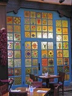 La Fonda Hotel painted windows, Santa Fe, NM, interesting alternative to stained glass Interior And Exterior, Interior Design, Interior Decorating, Window Art, Bohemian Decor, Windows And Doors, House Windows, Architecture, Santa Fe