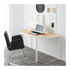 BEKANT Frame  for half-round table top - white - IKEA