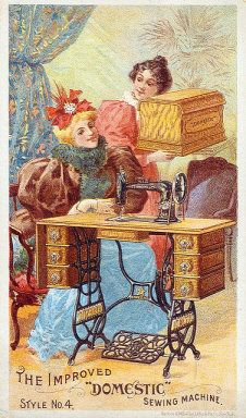 Late 1800s Domestic Sewing Machine Trade Card