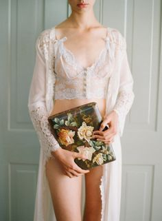Claire Pettibone heirloom lingerie boudoir session, shot by Elizabeth Messina (featured on Satin & Snow).