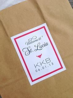 NEW Personalized Wedding Welcome Bag Stickers by JonesStreetPress