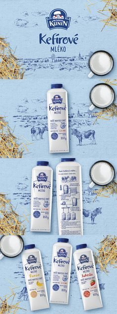 Packaging Design Kunín Kefírové Mléko #milk #nature