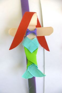 Disney Princess Inspired Ribbon Sculpture Patterns: Day 3- Ariel