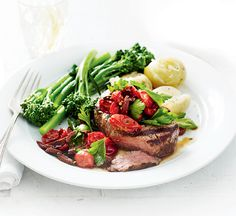 A steak supper doesn't have to be unhealthy. We've slimmed down this traditional dish by chargrilling the steak and swapping chips with potatoes.