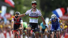 Thomas retains yellow as Sagan wins stage 3 #FansnStars