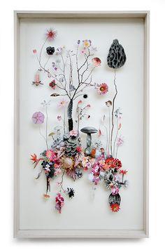 Flower construction #37 (w:60 h:100 d:6.5 cm) | Anne ten Donkelaar