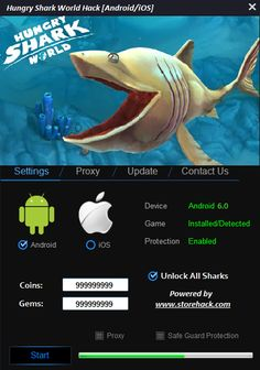 Hungry Shark World Hack 2016 download windows, iOS, apk. Full Hungry Shark World…