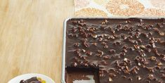Best Texas Sheet Cake - Chocolate Sheet Cake Recipe Sheet Cake Pan, Pumpkin Sheet Cake, Sheet Cake Recipes, Hot Butter, Stick Of Butter, Pineapple Zucchini Sheet Cake, Vanilla Sheet Cakes, Best Chocolate, Cake Chocolate
