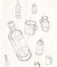 bleistift Basic Bottle Drawings – Keep up with the times. Basic Sketching, Basic Drawing, Drawing Lessons, Technical Drawing, Drawing Techniques, Basics Of Drawing, Pencil Art Drawings, Easy Drawings, Drawing Sketches