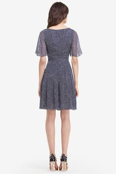 DVF Katina Flutter Sleeve Chiffon Wrap Dress | Landing Pages by DVF