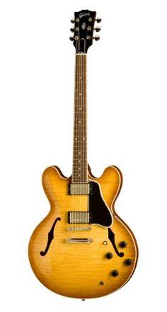 Santas Tools and Toys Workshop: Musical Instruments: Gibson Custom ES-335 Dot Electric Guitar, Light Burst, Figured Maple