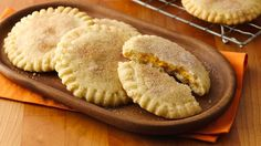 Sugar cookies stuffed with pumpkin pie filling--a delicious combination!