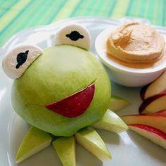 Kermit! Healthy Snack;. Dentistry Just 4 Kids - pediatric dentist in Terre Haute, IN @ dentistryjust4kids.com