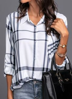 Shop Floryday for affordable Tops. Floryday offers latest ladies' Tops collections to fit every occasion. Casual Outfits, Fashion Outfits, Fashion Trends, Summer Blouses, Work Fashion, Blouse Designs, Blouses For Women, My Style, Sleeves