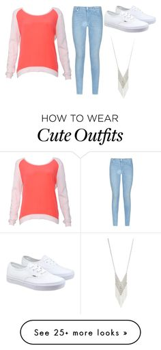 """Cute Outfit"" by haileycarr23 on Polyvore featuring 7 For All Mankind, Sandro, Vans and Lane Bryant"